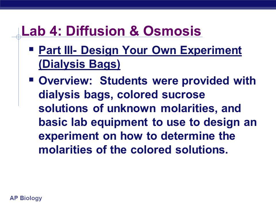 Lab 4: Diffusion & Osmosis