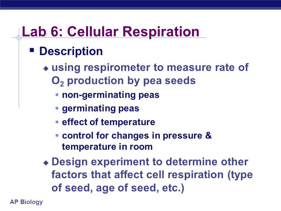 Lab 6: Cellular Respiration