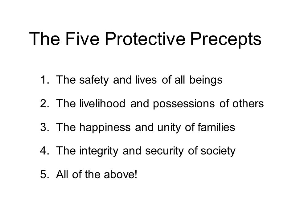 The Five Protective Precepts