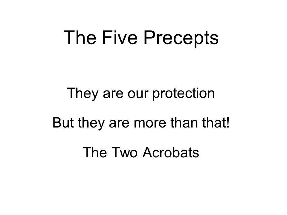 They are our protection But they are more than that! The Two Acrobats