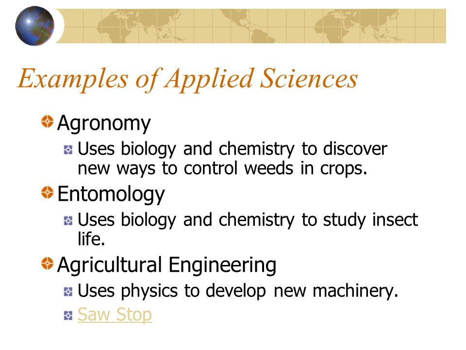 Examples of Applied Sciences