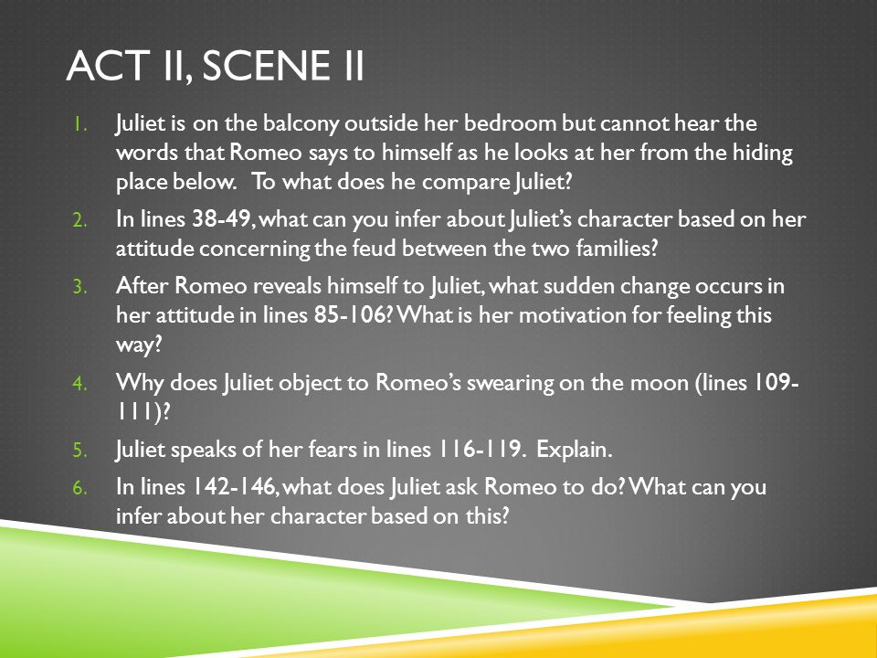 directing act ii the balcony scene of romeo and juliet essay Romeo implies that juliet is a servant of the moon as long as she's a virgin jealous moon  the moon is already sick and pale with grief because you, juliet, her maid, are more beautiful than she.