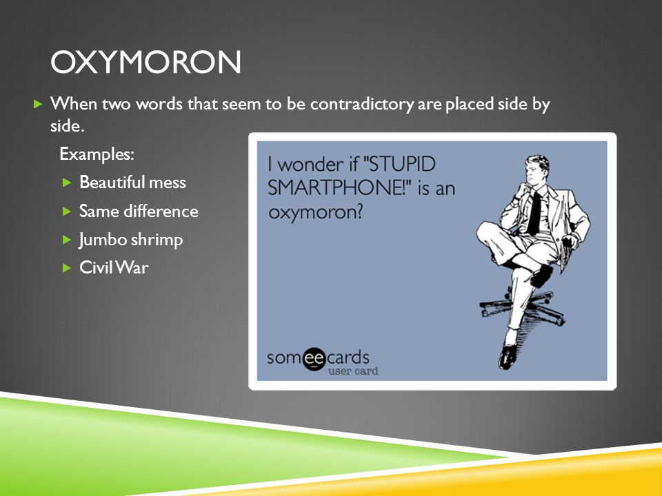 Define Oxymoron Examples Images Example Cover Letter For Resume