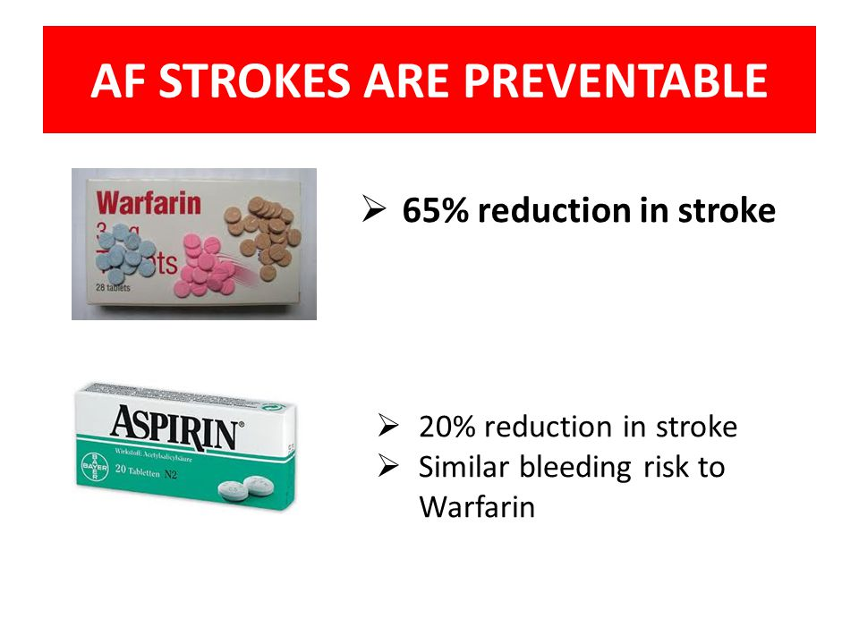 AF STROKES ARE PREVENTABLE