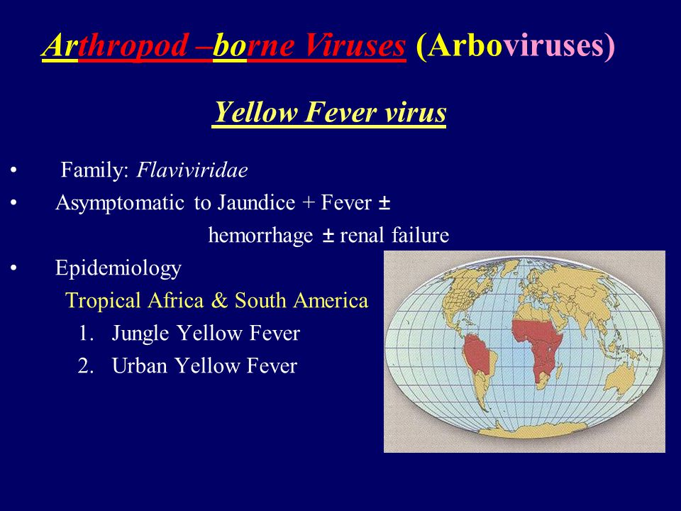 Arthropod –borne Viruses (Arboviruses)