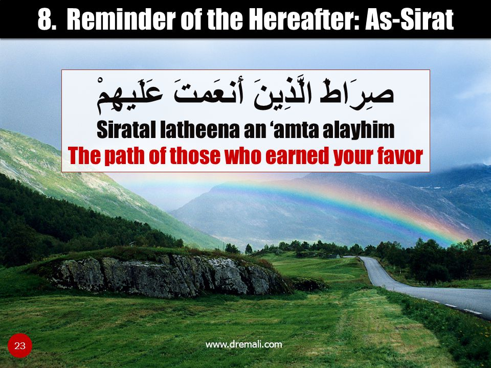 8. Reminder of the Hereafter: As-Sirat