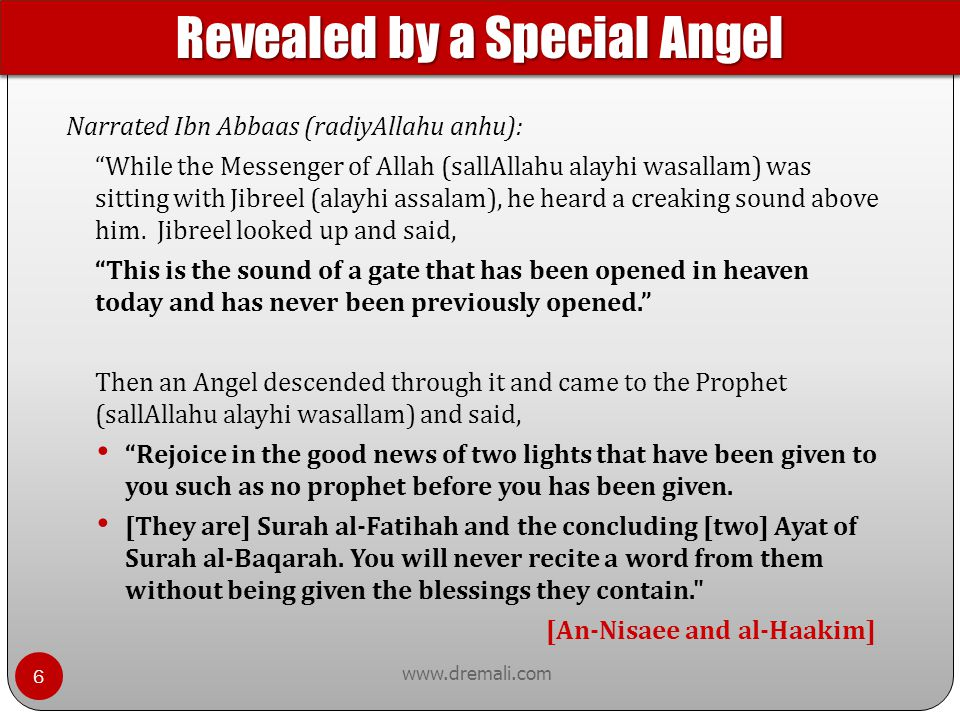 Revealed by a Special Angel