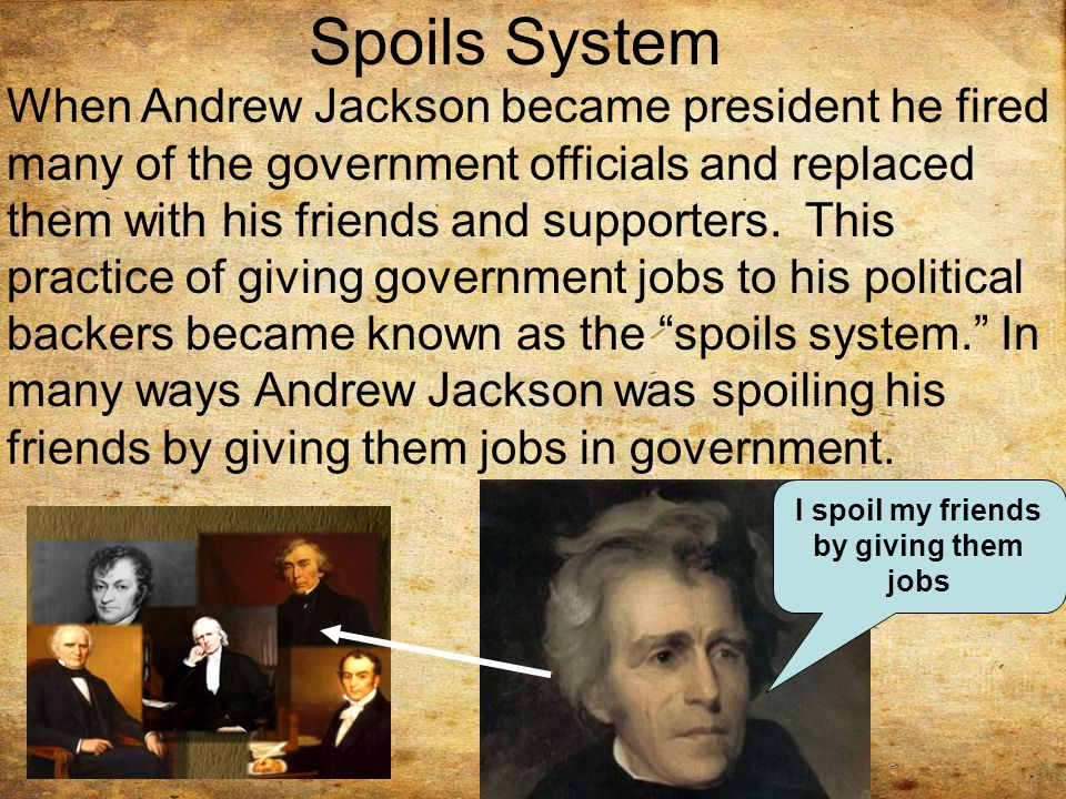 "Spoils System Andrew Jackson Mesmerizing President Andrew Jackson And ""Jacksonian Democracy""  Ppt Video Inspiration Design"