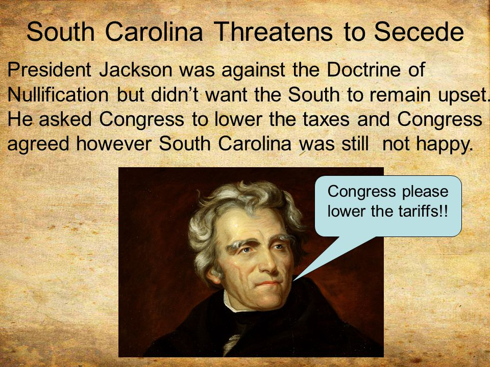 South Carolina Threatens to Secede