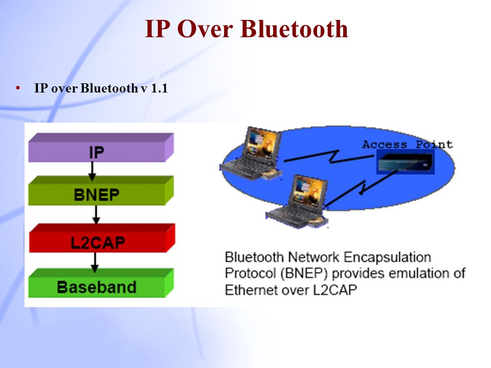 IP Over Bluetooth IP over Bluetooth v 1.1