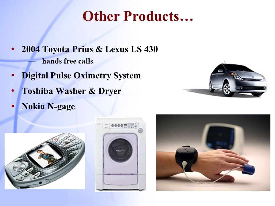 Other Products… 2004 Toyota Prius & Lexus LS 430