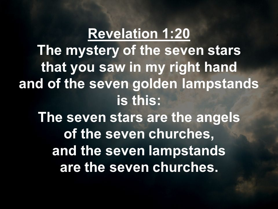The mystery of the seven stars that you saw in my right hand