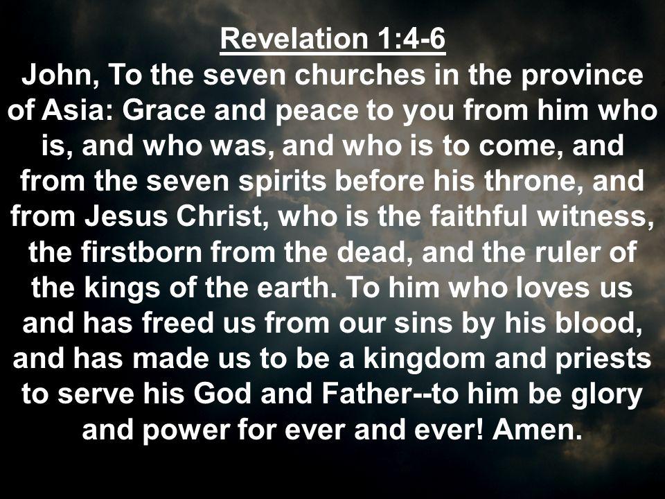Revelation 1:4-6