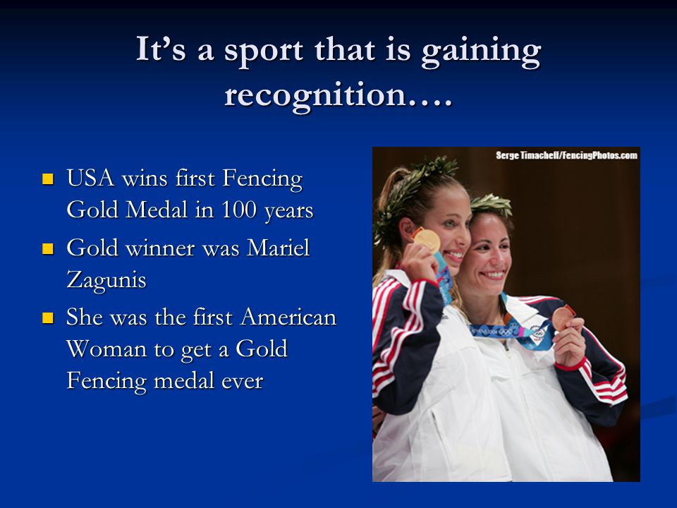 It's a sport that is gaining recognition….
