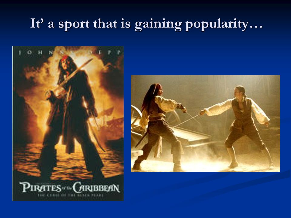 It' a sport that is gaining popularity…