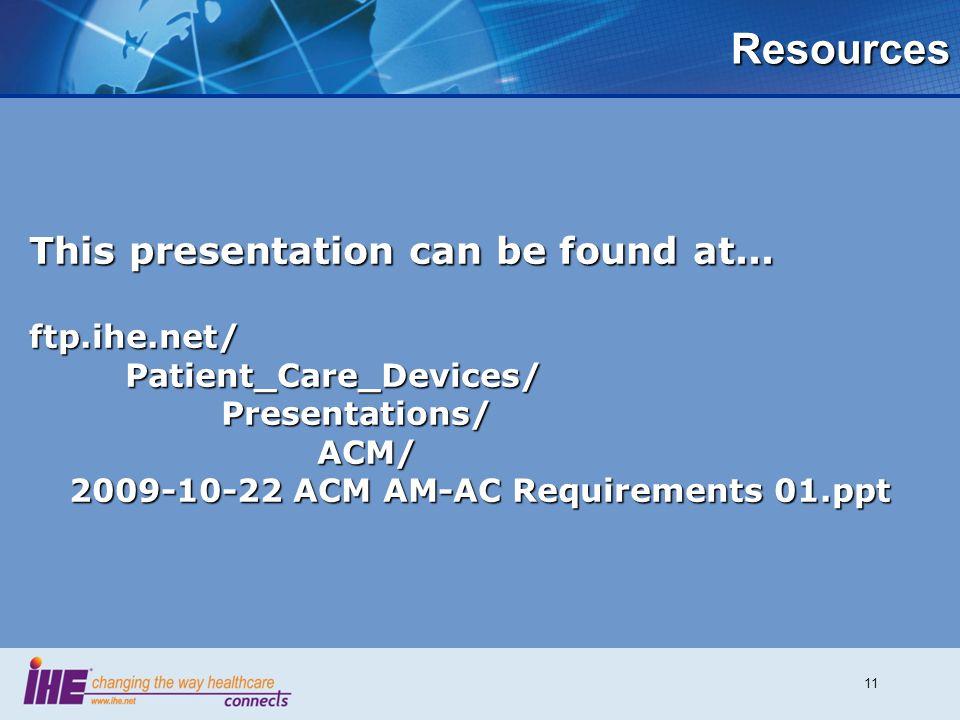 2009-10-22 ACM AM-AC Requirements 01.ppt