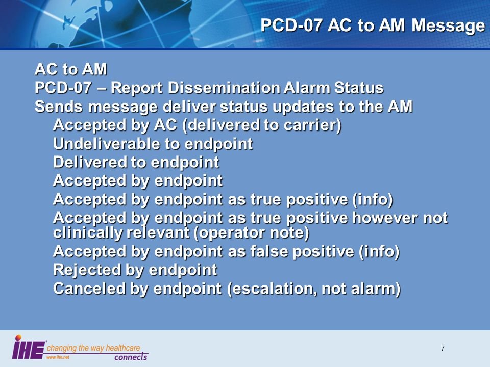 PCD-07 AC to AM Message AC to AM