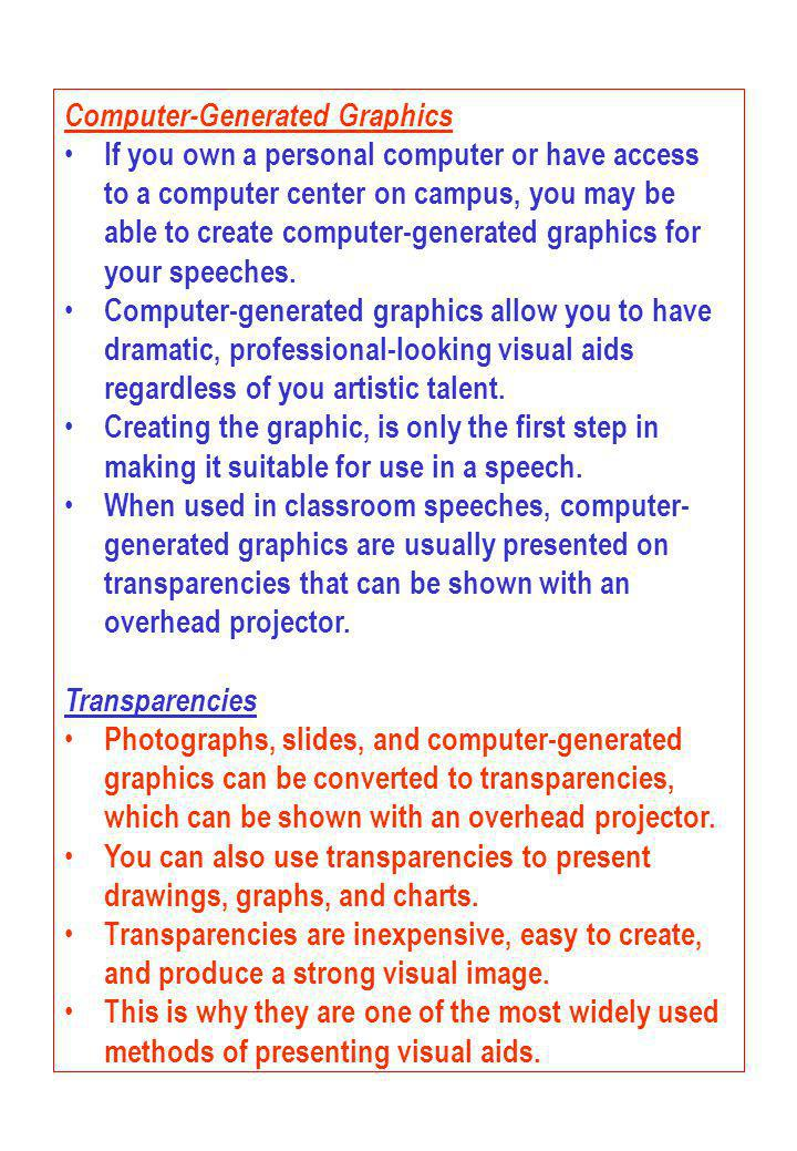 Computer-Generated Graphics