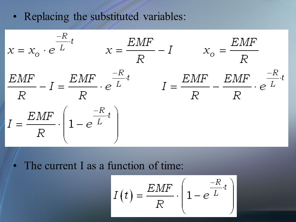 Replacing the substituted variables: