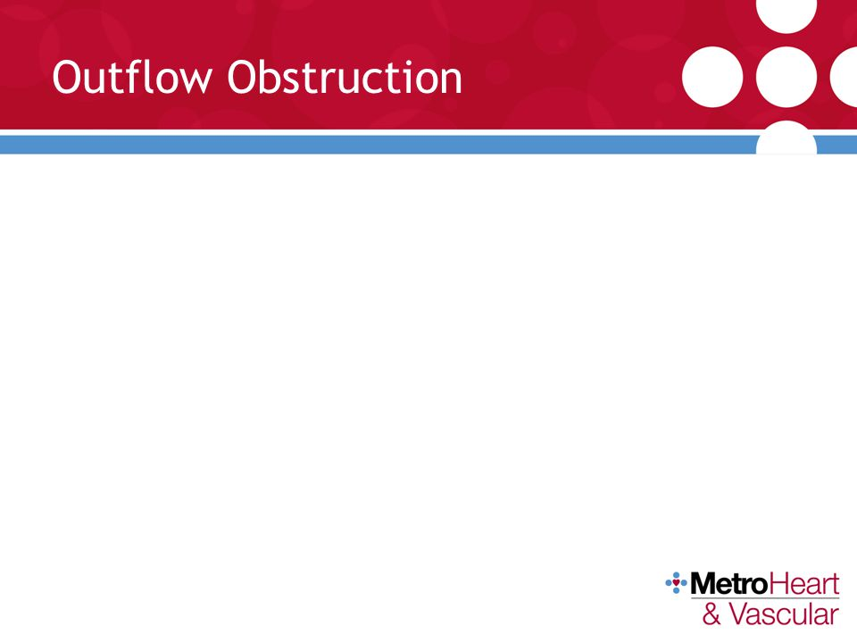 Outflow Obstruction