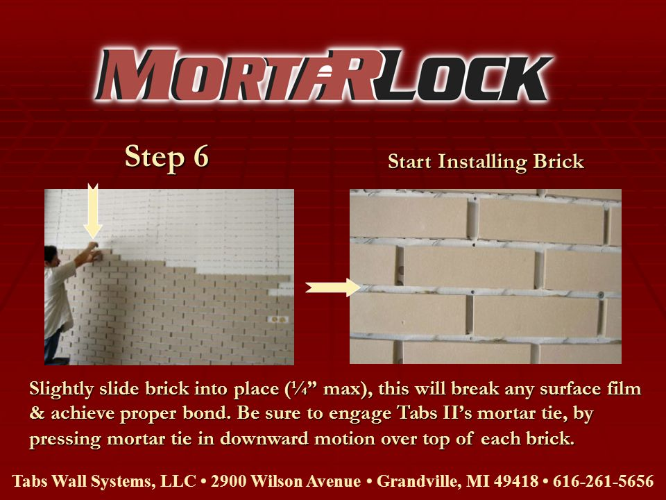 Start Installing Brick