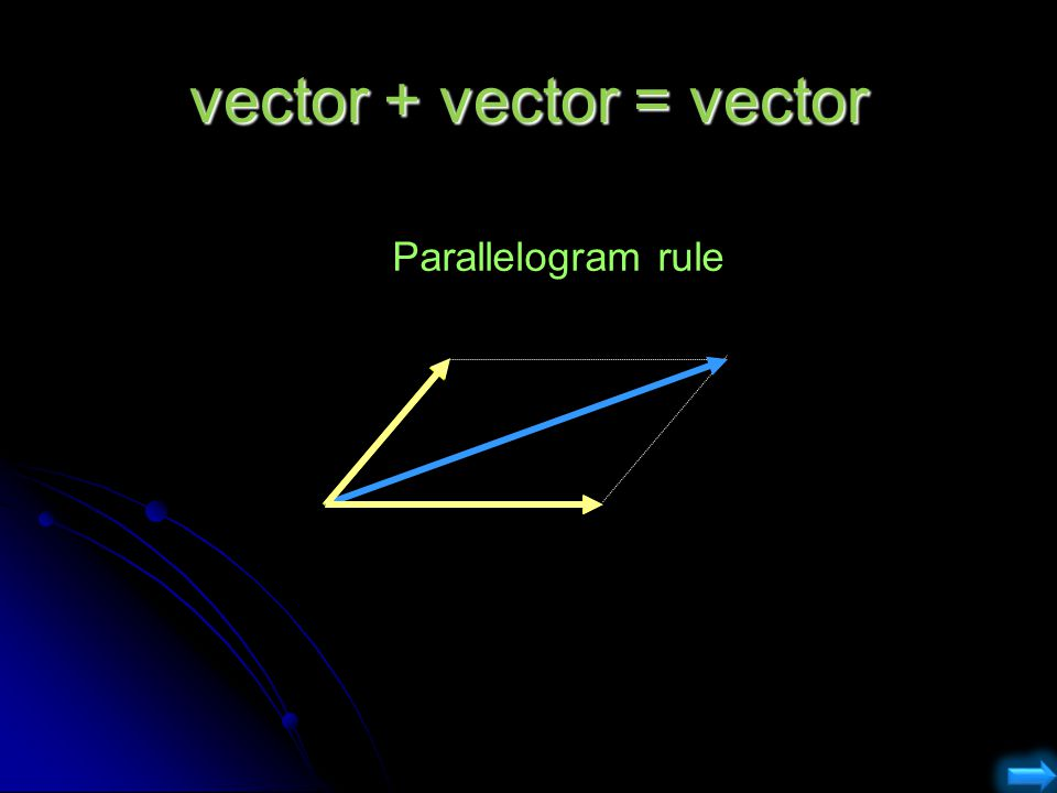 vector + vector = vector