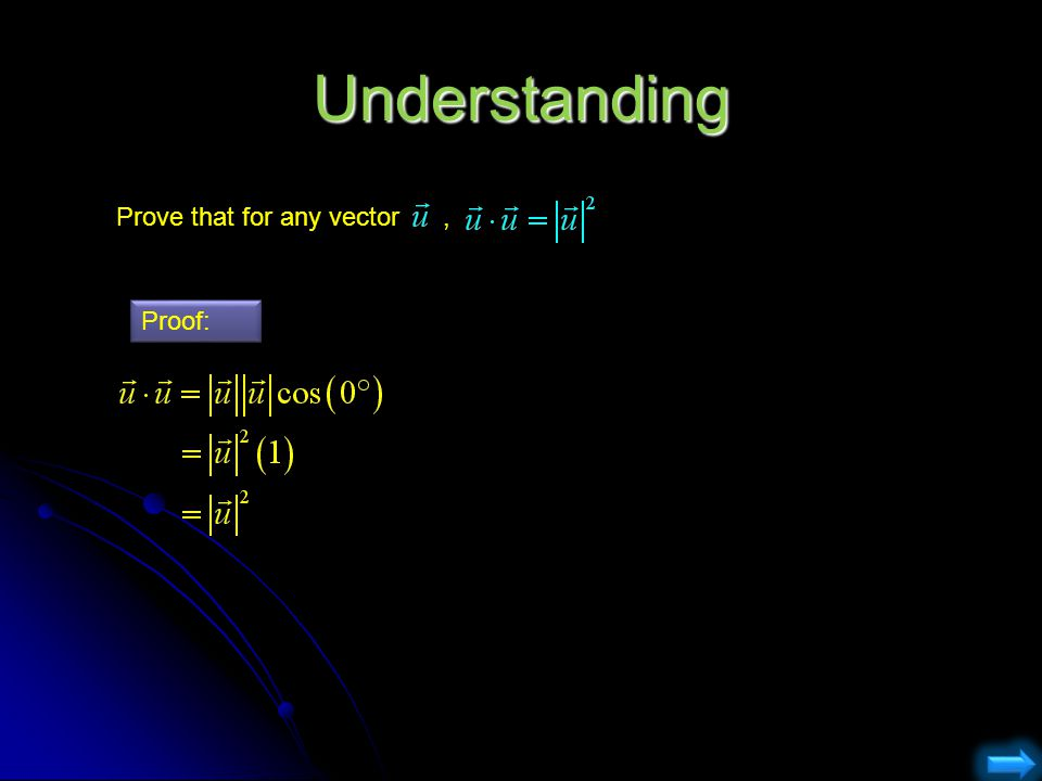 Understanding Prove that for any vector , Proof: