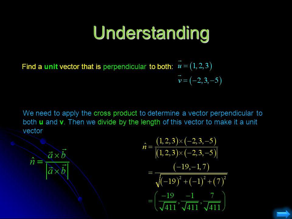 Astonishing find two unit vectors orthogonal to pics
