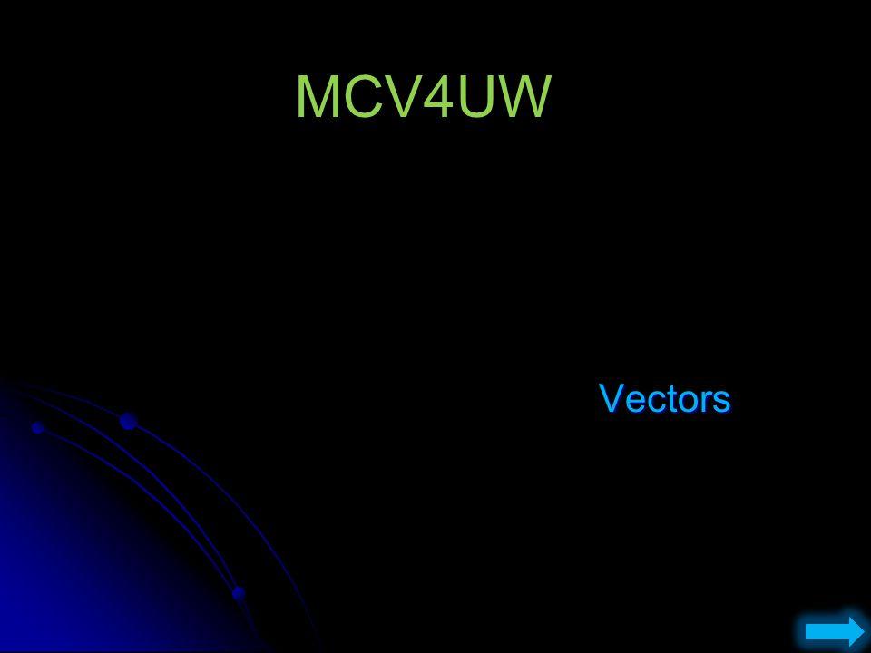 MCV4UW Vectors