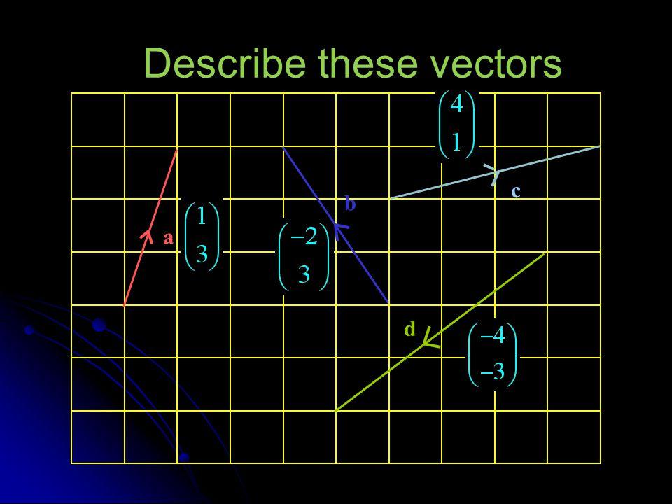 Describe these vectors