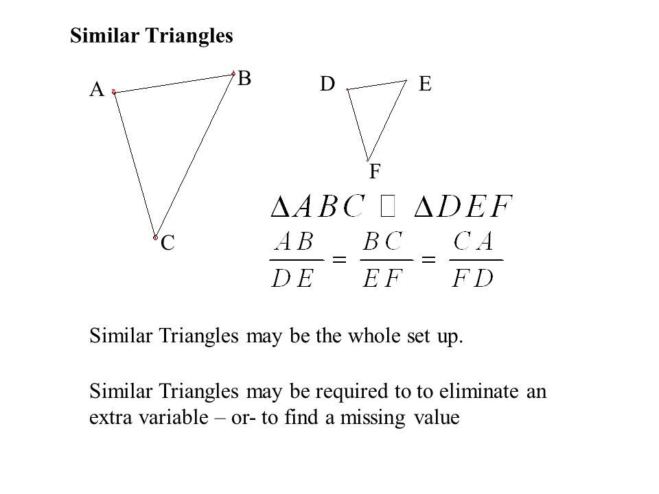 Similar Triangles B D E A F C