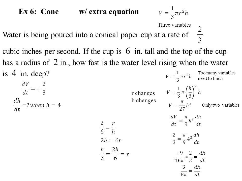 Ex 6: Cone w/ extra equation