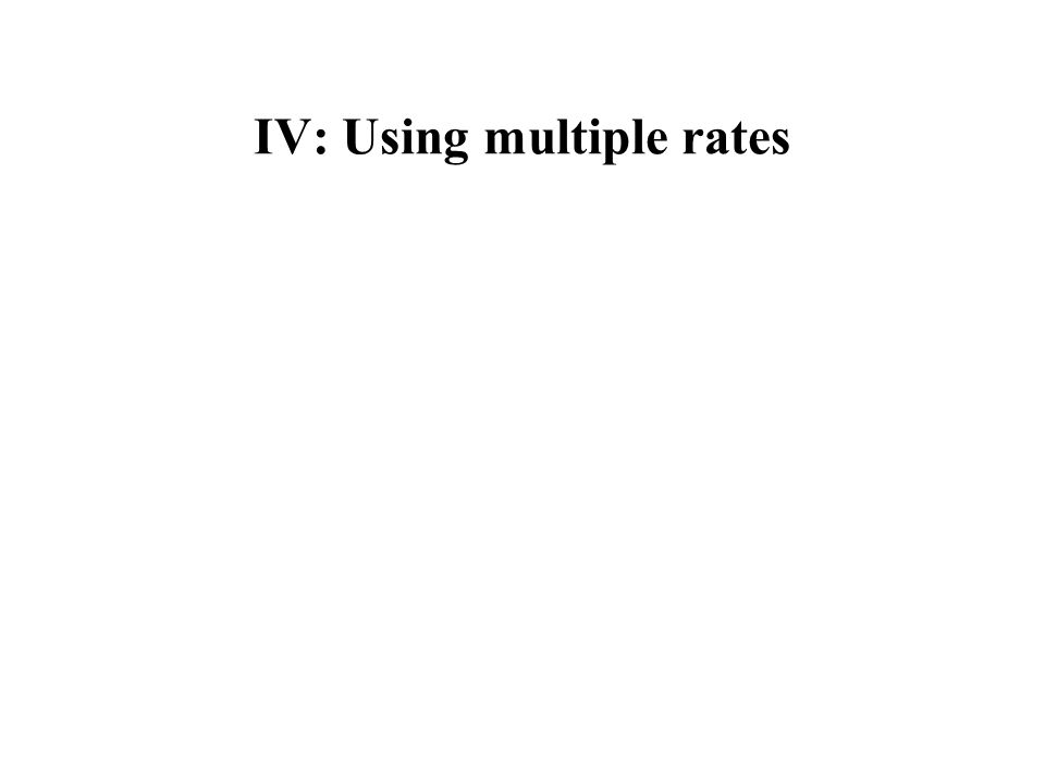 IV: Using multiple rates