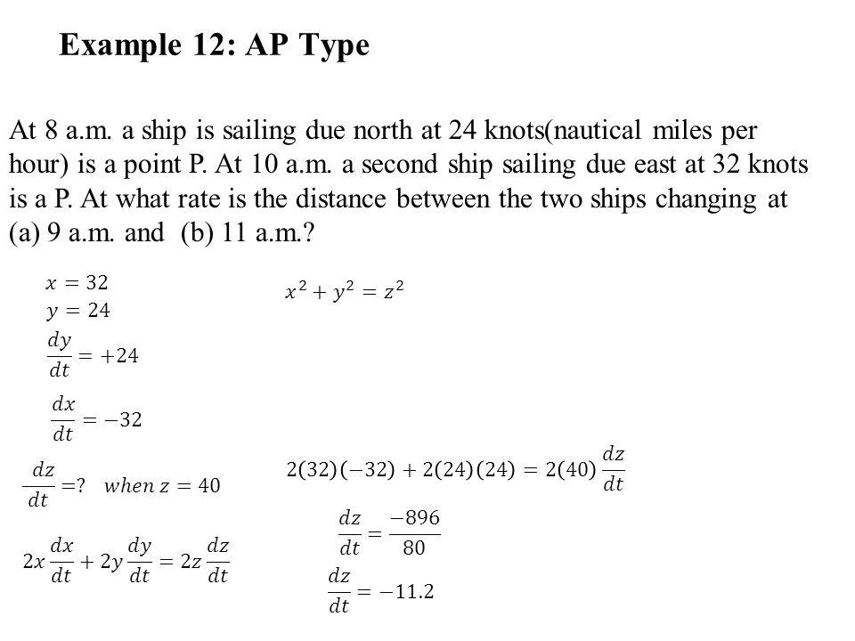 Example 12: AP Type