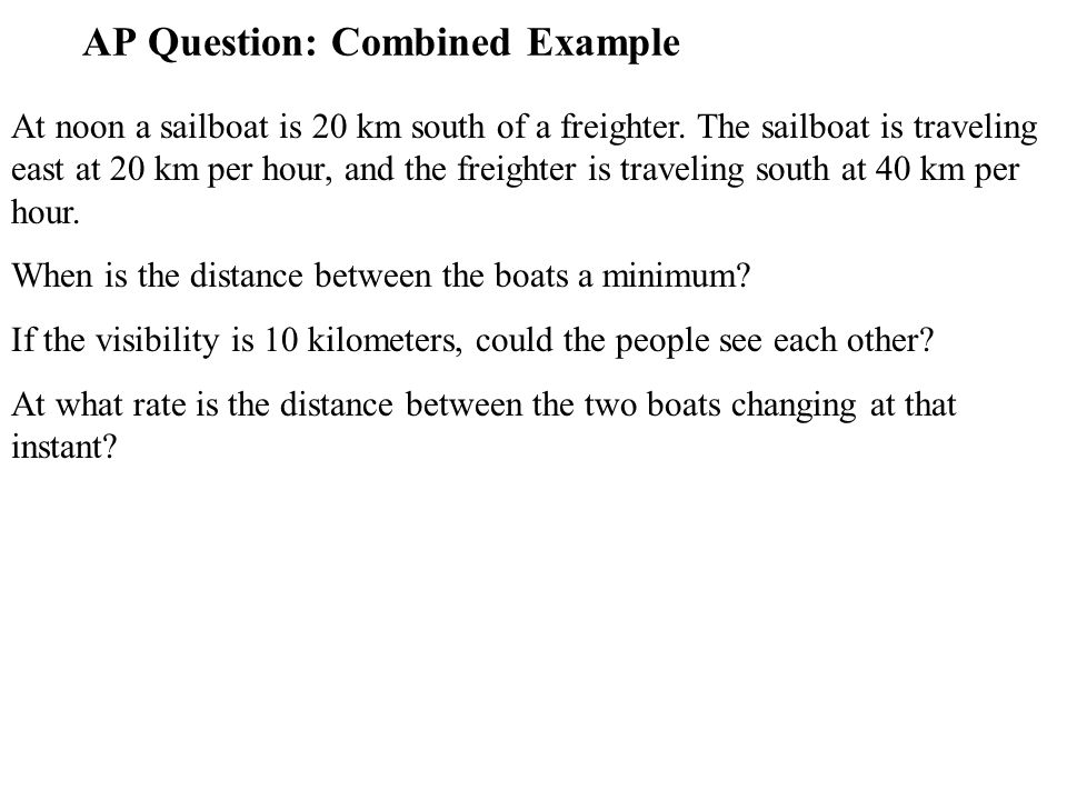 AP Question: Combined Example