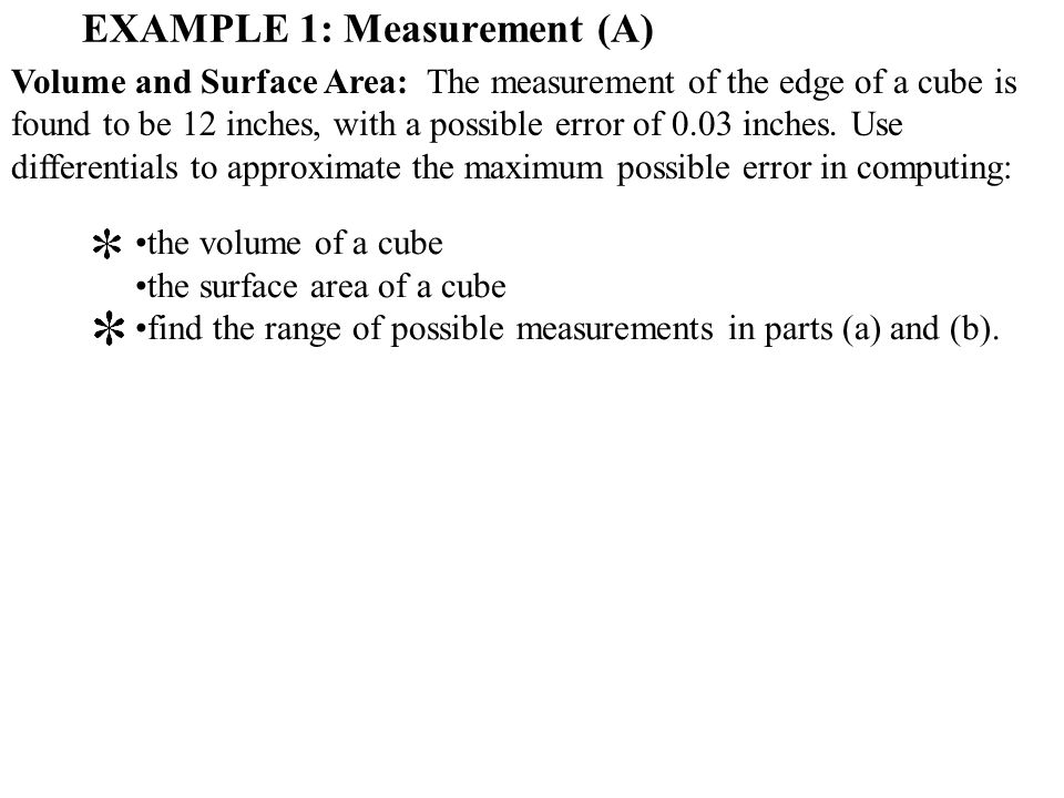 EXAMPLE 1: Measurement (A)