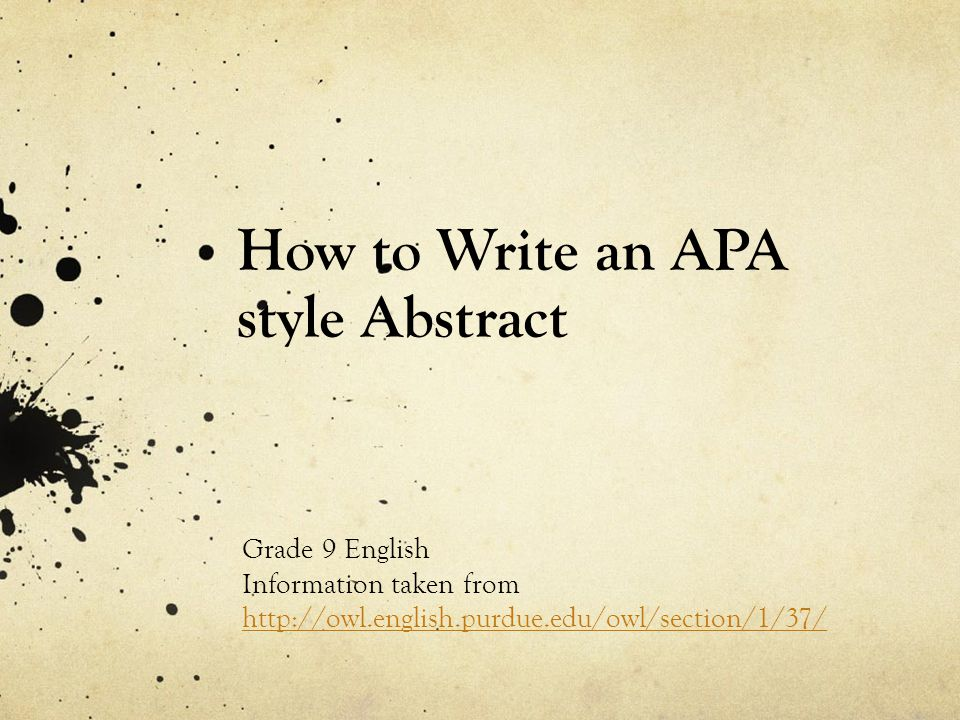 How to Write an Annotated Bibliography - APA Style