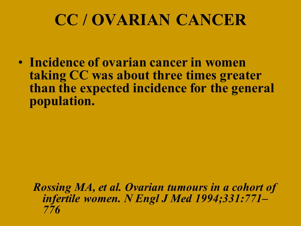 CC / OVARIAN CANCER
