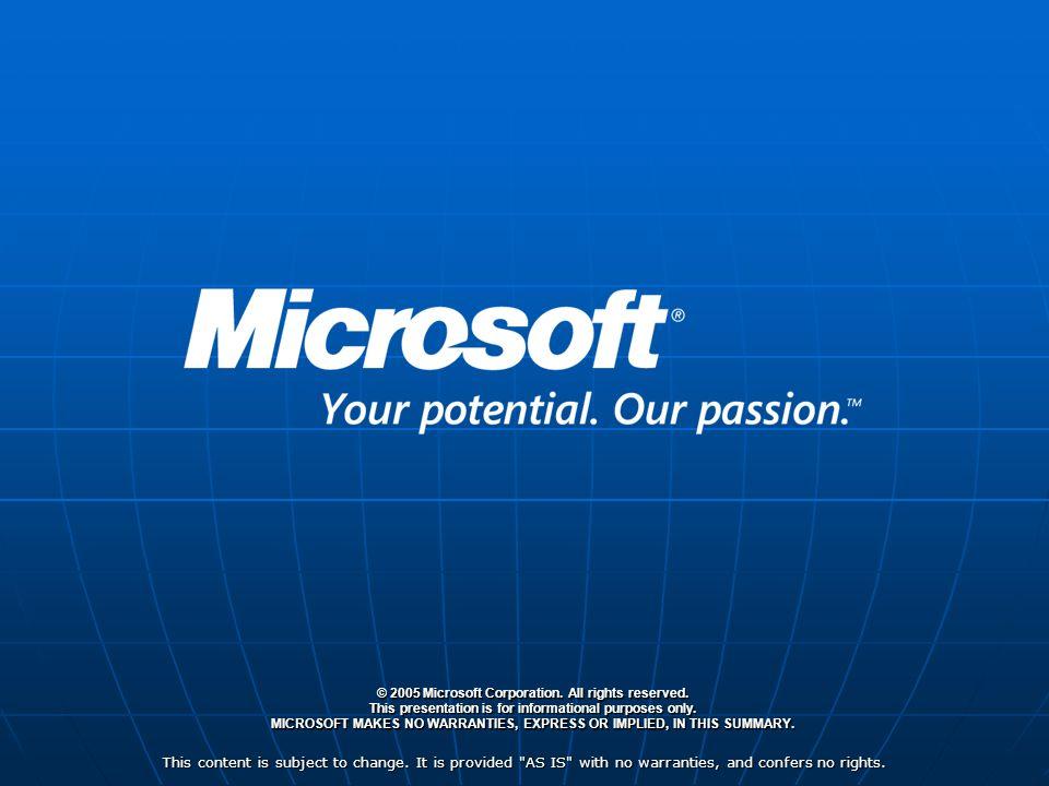 Microsoft Managment Summit 2005