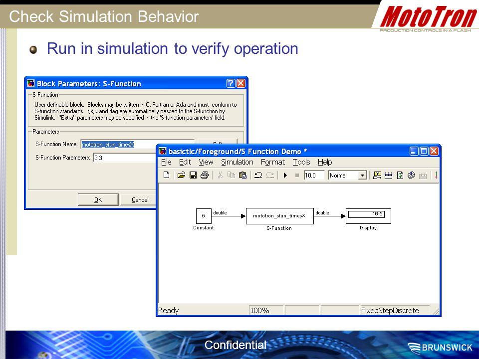 Check Simulation Behavior