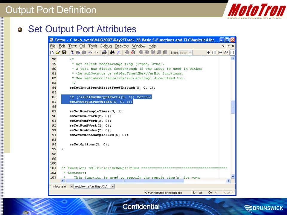 Output Port Definition