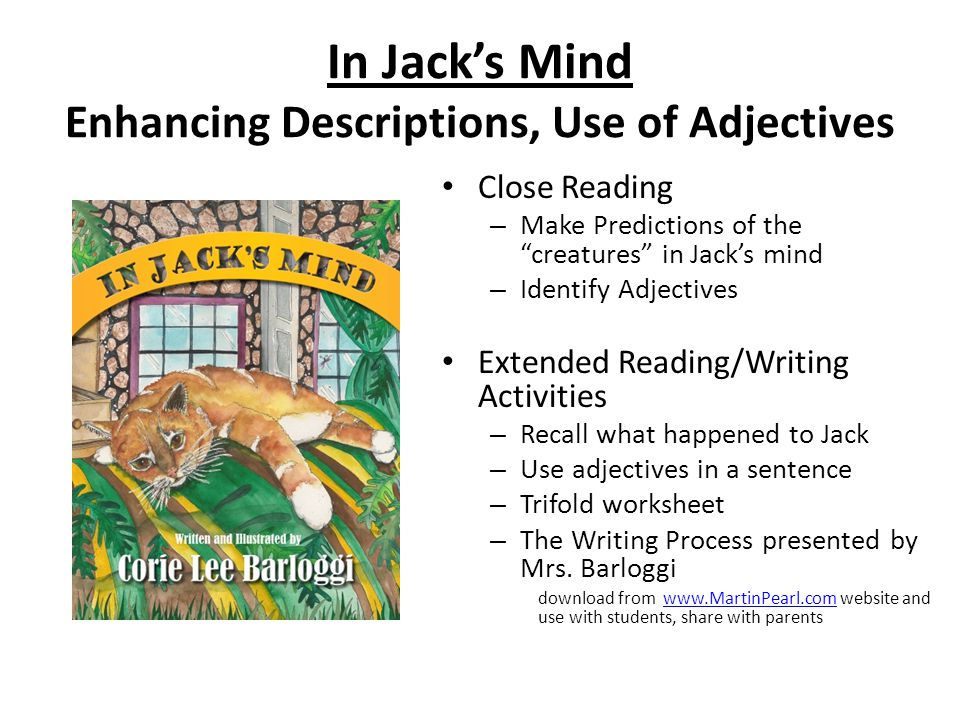 In Jack's Mind Enhancing Descriptions, Use of Adjectives