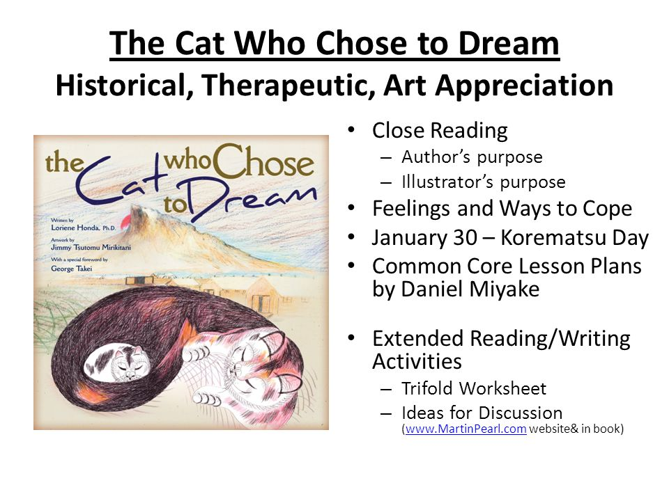 The Cat Who Chose to Dream Historical, Therapeutic, Art Appreciation