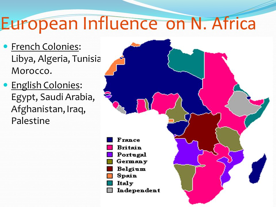 European Influence on N. Africa