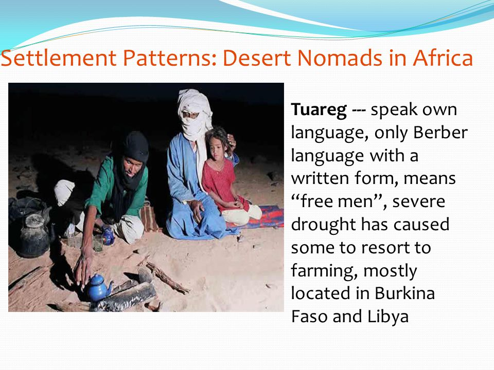 Settlement Patterns: Desert Nomads in Africa