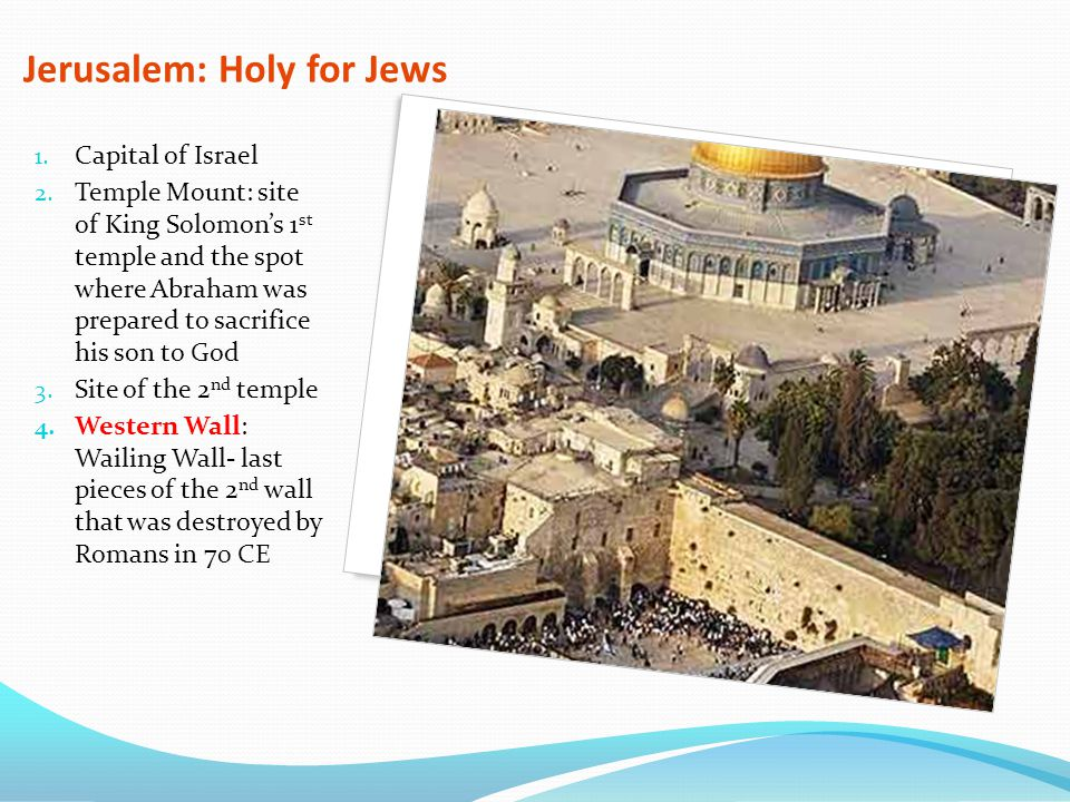 Jerusalem: Holy for Jews