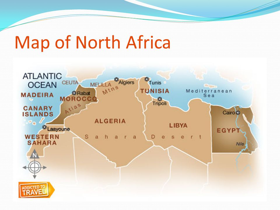 Map of North Africa