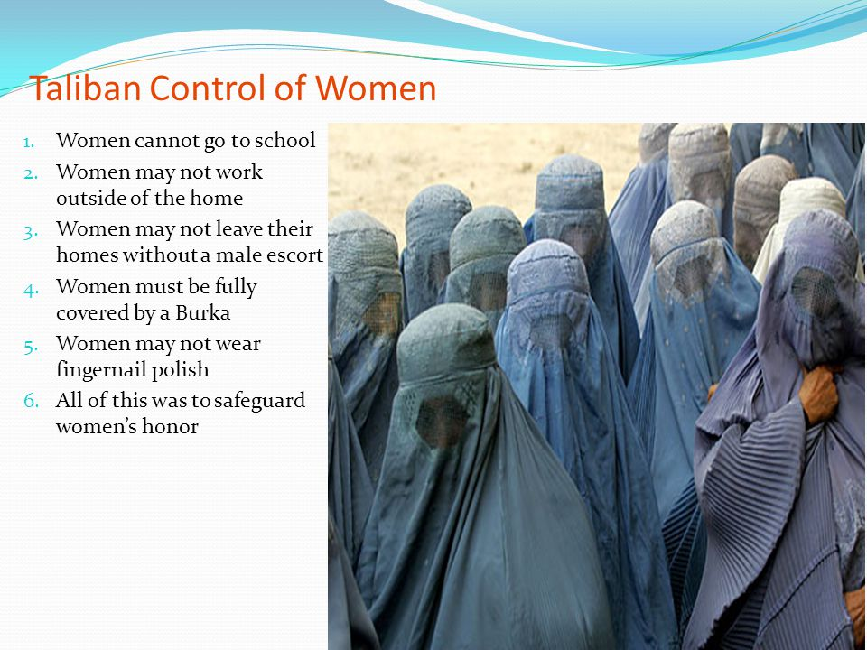 Taliban Control of Women