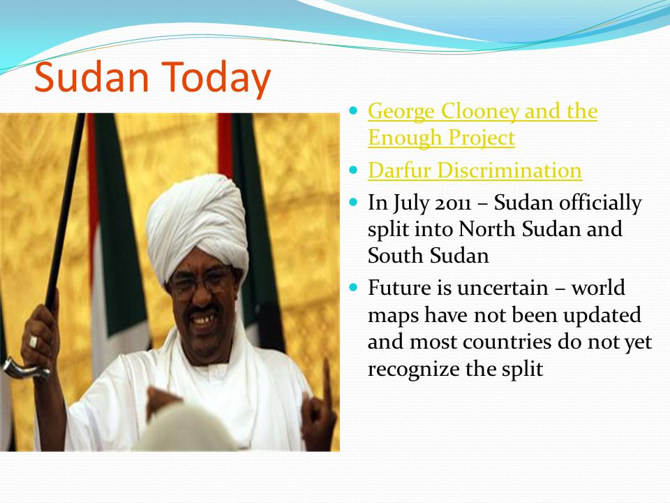 Sudan Today George Clooney and the Enough Project