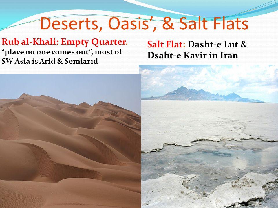 Deserts, Oasis', & Salt Flats